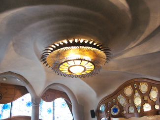 Ceiling light in Casa Batllo