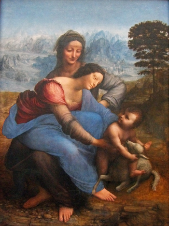 The Virgin and Child with St. Anne by Leonardo Da Vinci (Photo by Eric and Chun-Chih Hadley-Ives)