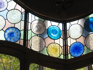 Stained glass windows in Casa Batllo