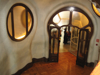 Casa Batllo windows and main entry door