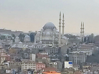 Suleiman's Mosque seen from Galata Tower