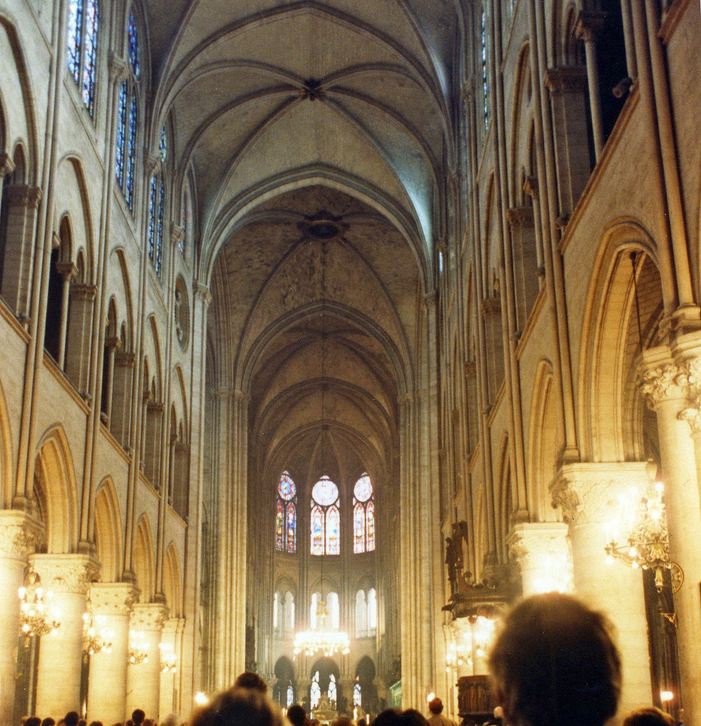 Inside A Gothic Cathedral Such As Notre Dame Your Attention Is Draw Upwards