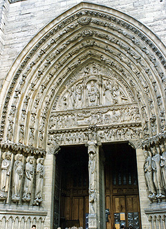 Last Judgment portal on the west side of the cathedral