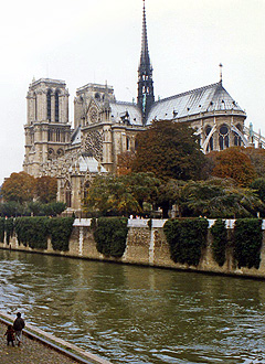 Looking across the Seine at the Cathedral