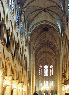 Ceiling of the Notre Dame cathedral