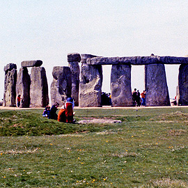 Stonehenge as seen from the indicator stone