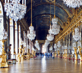 La Galerie des Glaces, the Hall of Mirrors